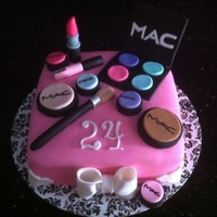 Mac Makeup Cake   A cake I made for my sister's 24th birthday