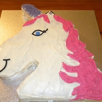 Unicorn   Buttercream covered unicorn