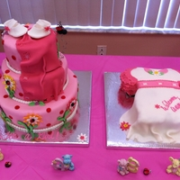 Babyshower With Ladybuds And Flowers Baby Shower/ Ladybug, Pink