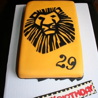 This Lion King Cake Based On The Broadway Playbill Was Entirely Hand Cut Was Super Happy With The Turnout But It Took Way More Time Than This Lion King cake based on the broadway playbill was entirely HAND CUT... was super happy with the turnout, but it took way more time...