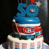 Go Habs Go Such A Fun Cake To Make For A Habs Montreal Canadiens Hockey Fan Turning 50 Go HABS Go!! Such a fun cake to make for a Habs (Montreal Canadiens) Hockey fan turning 50