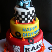 Cars Guido Birthday Cake This was a birthday cake for a little boy who loved the blue car from the Movie Cars!