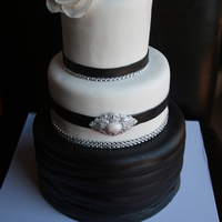 This Classic Black And White Wedding Cake Was For A Small Wedding But It Was Truly One Of The Funnest Cakes I Made That Year This classic black and white wedding cake was for a small wedding but it was truly one of the funnest cakes I made that year!