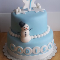 Winter Themed Cake   winter themed cake