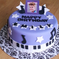 Justin Bieber Cake Chocolate With Whipped Ganache Filling   Justin Bieber cake - chocolate with whipped ganache filling
