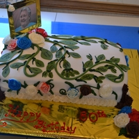 80Th Birthday Cake Family tree concept. Each vine represents the children. Each large leaf represents the Child with spouse, attached medium leaf is their...