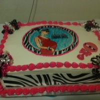 Zebra Edible Image Deigned Baby Shower Cake Zebra edible image deigned baby shower cake