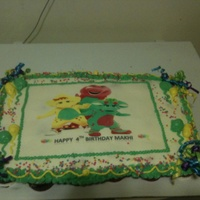 Barney And Friends Edible Image Birthday Cake Barney and friends edible image birthday cake