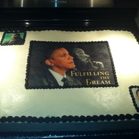 Birthday Cakes Martin Luther king jr , And Obama cake