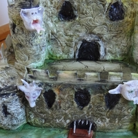 Gothic Castle Cake With Dragon And Gargoyles