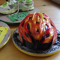 Running Shoes And Cycle Helmet Fruitcakes
