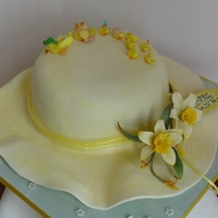 Easter Bonnet With Cold Porcelain Daffodils