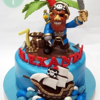 Pirate's Treasure Everything on this cake is handmade from fondant. We're thinking of starting up a class on advanced figurine modelling soon featuring...