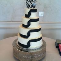 Mclaughlin Wedding 14, 12, 9, 6 inch tiers. Buttercream icing.