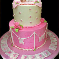 Baby Girl Shower Cake. Buttercream icing with double chocolate cake. Fondant decor. Mother to be is from India and invited me to the shower. Very ceremonial. I...