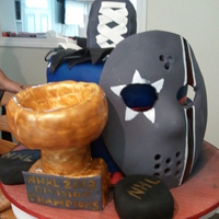 Ices Hockey Theme Cake For Special Needs Boy.
