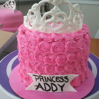 Princess Tiara Cake SMASH CAKE! Vanilla cake with chocolate buttercream frosting.