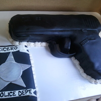 Detective Glock Gun Red velvet cake with cream cheese frosting