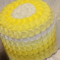 Yellow Petal Effect Ombre Cake