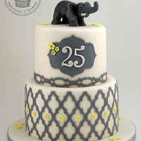 Elephant Cake   Elephant themed cake for a young lady