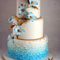 Something Blue...   This cake was my contribution to czech wedding cakes contest