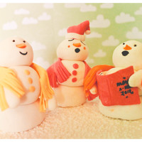 "Carolling Snowmen ""We wish you a merry christmas, we wish you a merry christmas, we wish you a merry christmas, and a happy new year!""Carolling..."