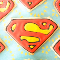 Superman Shortbread Cookies Superman shortbread cookies!