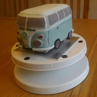 Vw Campervan Cake a replica in cake of my friend's campervan - he is used for chauffer driven events / weddings -