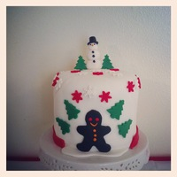 Winter Wonderland This cake was inspired by Christine with Quaint Cake Company. This is a 7 inch 6 layer cake with an apple spice filling. Not to bad for a...