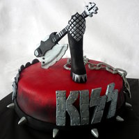 Kiss B Day Cake For A Big Kiss Fanchocolate Cake With Chocolate Mousse Its Very Chocolate Inside KISS b-day cake for a big KISS fan...chocolate cake with chocolate mousse ... it's very chocolate inside