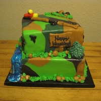 Camo Hunting Cake Camo hunting cake that a made for a client on the opening day of dove season in Texas.