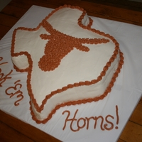 Texas Longhorns Grooms Cake buttercream Texas Longhorns grooms cake
