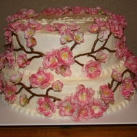Cherry Blossom Couple Shower Cake