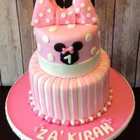 Minnie Theme Birthday Cake