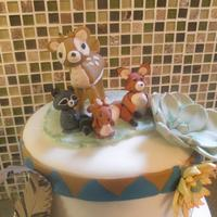 Woodland Animals Cake Woodland Animals Birthday Cake Animal cake toppers, flowers and leaf are hand made from gumpaste. All other decorations are Marshmallow...