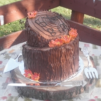 Red Rover Stump Cake
