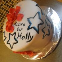 Stars For Holly Just a simple hand painted cake I made for one of my best friends. Stars and tattoos are speshial to her. i tried to bring that out in my...