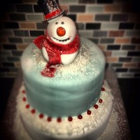 Holiday Cakes   Snowman Cake