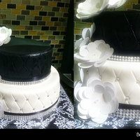 Black And White   Black and White Anniversary Cake