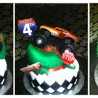 Monster Truck   Monster Truck 4th B-Day cake