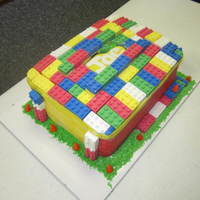 Lego Cake Lego Cake, colored Lego's made from white chocolate