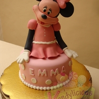 Minnie Mouse Minnie Mouse done with rice krispes, chocolate and fondant