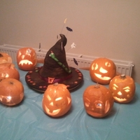 Dusty Witch Hat Halloween Witch's Hat cake! Kinda poor quality but this was just a quick one made for fun and I have no other photos :(