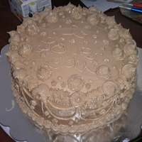 "Practice Red Velvet Cake  This is one of my first ""just buttercream"" cakes. I was trying a recipe out of the cake bible for buttercream and it failed..."