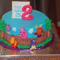 Backyardigans 2Nd Birthday Cake Backyardigans cake for my daughter's second birthday. Buttercream with fondant decorations. Thanks to mooj for the inspiration!