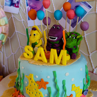 Under The Sea Barney Cake And Cupcakes