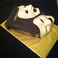Comedy Tragedy Shakespear Cake