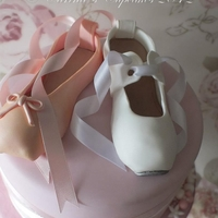 Ballet And Tap Shoe Cake