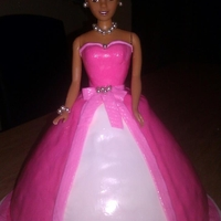 Doll Cake (Pink And White)