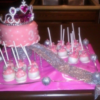 Princess Cake Here comes the princess!!!!! as she is surrounded by vanilla cake pops!!!!